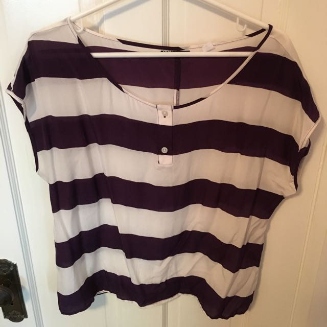 Urban Outfitters Striped Silk Shirt