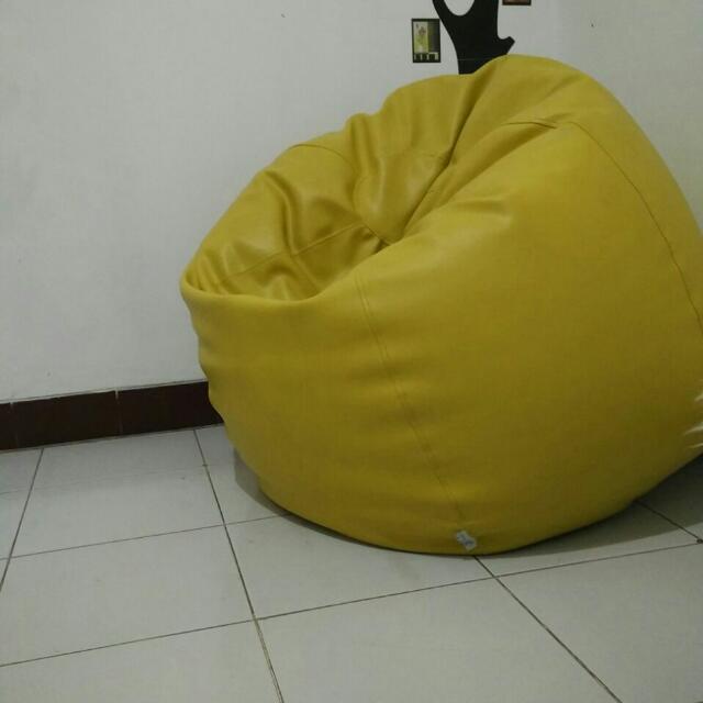 Used Beanbag Yellow