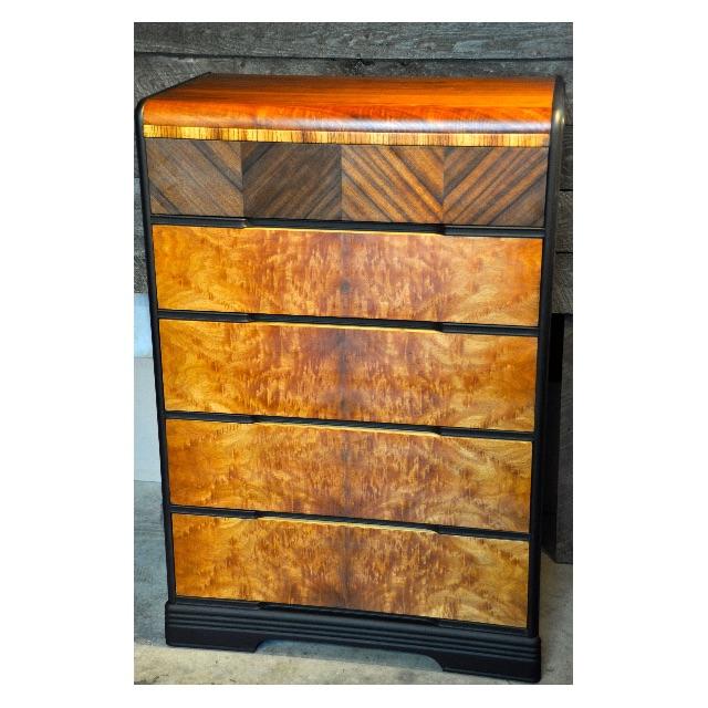Vintage Burled Walnut Dresser
