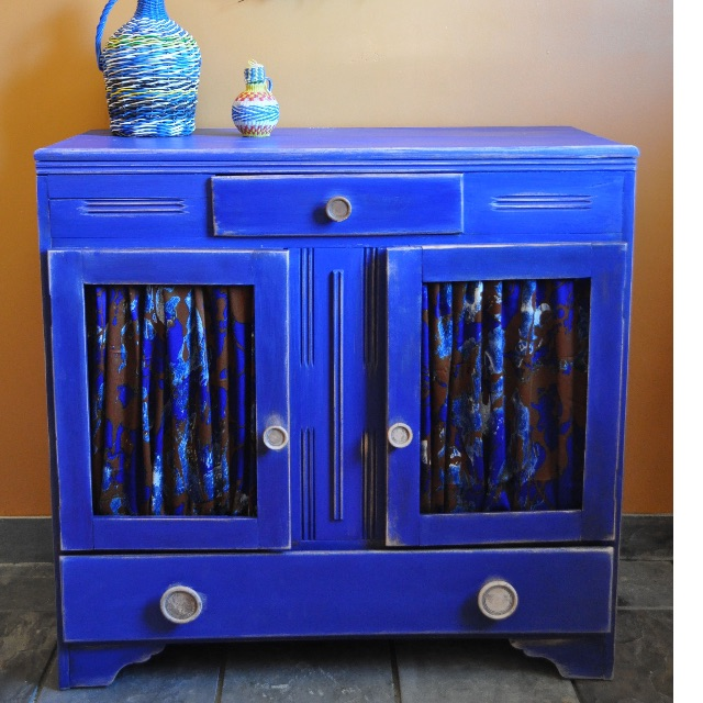 Vintage Cobalt Cabinet