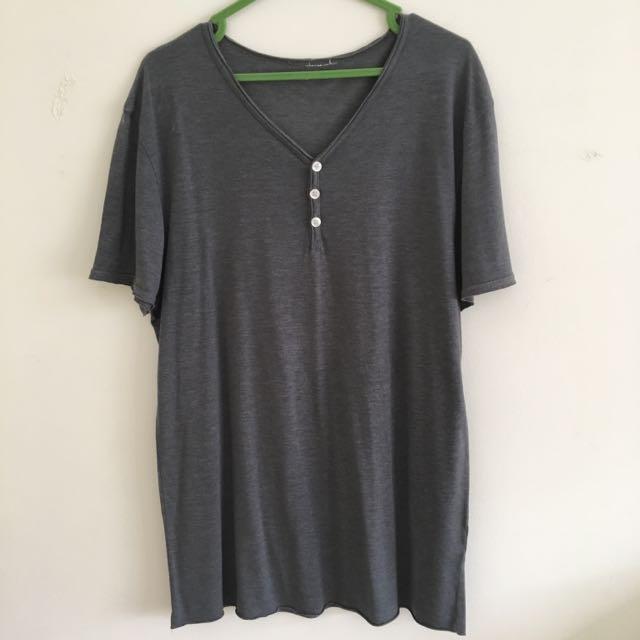 V-Neck Grey Shirt