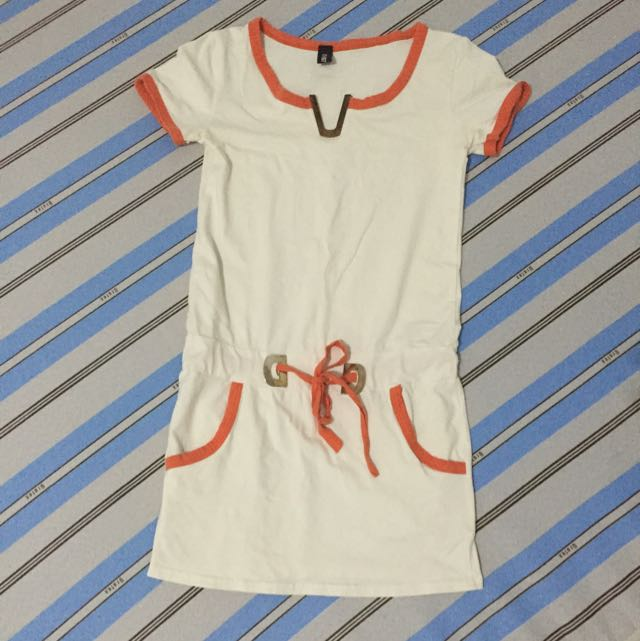 White & Orange Dress
