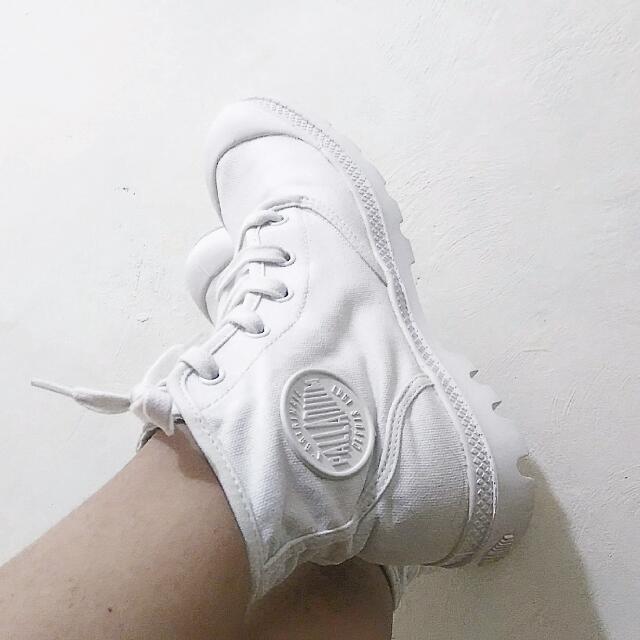Authentic White Palladium Boots