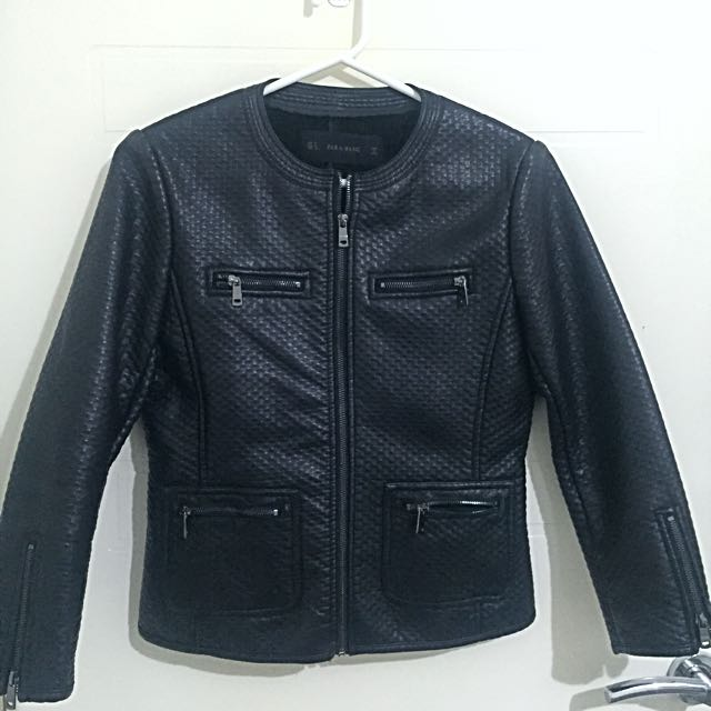 ZARA Structured Biker Pleather Jacket