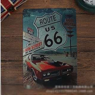 🚚 復古鐵皮畫一復古跑車系列
