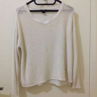 Hnm Dusty Pink Knit Sweater