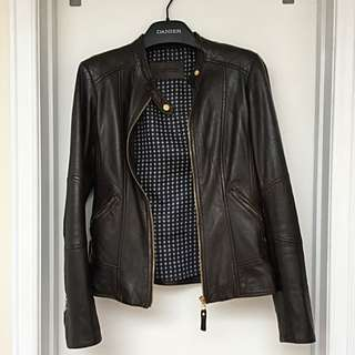 Dark Brown Danier Leather Jacket