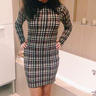 BOOHOO PARTY DRESS COLLARED