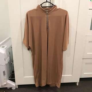 Caramel T Shirt Dress