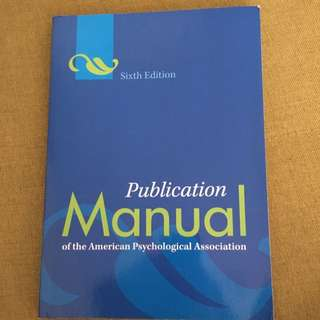 Publication Manual Of The American Psychological Association Sixth Edition (2014)