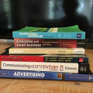 University Text Books (mixture)