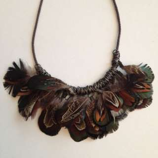 Duck Feather Necklace