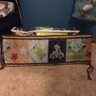 Crib Bumper And 2 Sheets