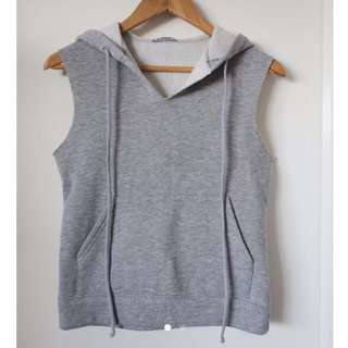 Grey Hooded Vest