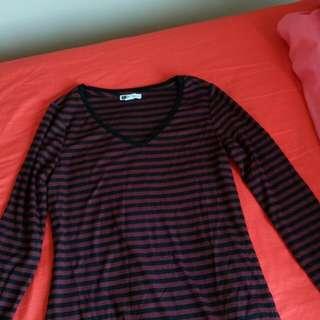 layering Striped Shirt Size8 Xs