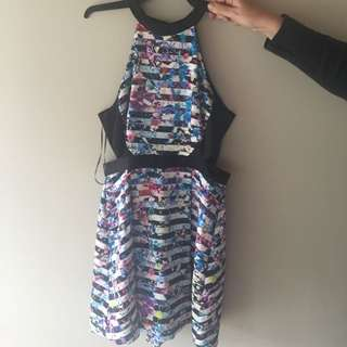 Milk And Honey Floral Dress Size 10