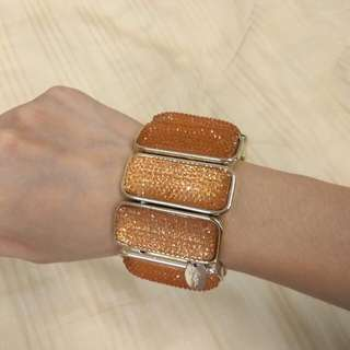 Lovisa Chunky Bracelet Peach/Gold