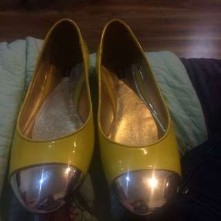 Real Mimco Yellow Flats