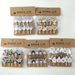 Character Wooden Clips