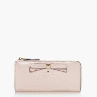 Bnib Authentic Katespade BEACON COURT NISHA Wallet In Ballet Pink $170 Foc Registered Mail