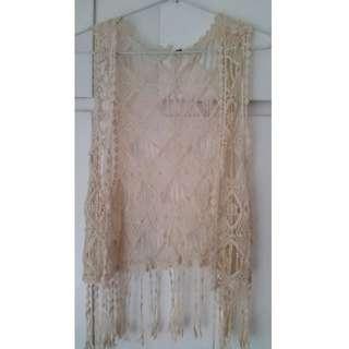 Factorie crochet top/vest size S