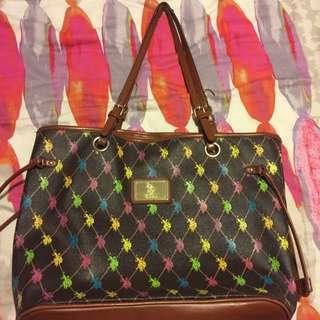Polo Assn USPA Logo Handbag