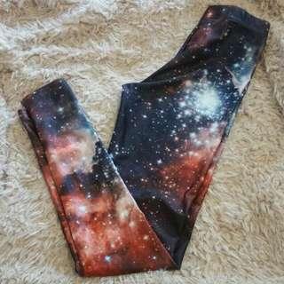 Black Milk Red Galaxy Leggings