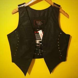 Real Leather Biker Vest