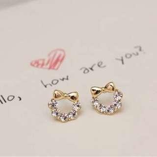 含運!!!可愛蝴蝶結耳環