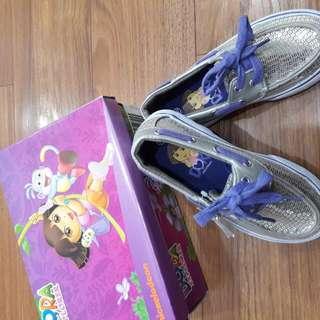 Brandnew Dora Silver Purple Loafers Size 10.5 Girls Kids