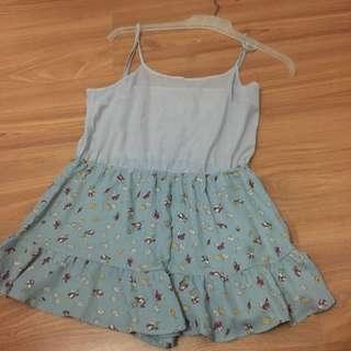 Short Blue Jumpsuit