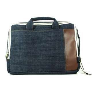 Denim Bag Blue Laptop Case with Strap