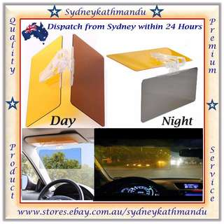 2 in 1 Car Visor Day & Night Anti-glare HD Dazzling Mirror Clear Vision