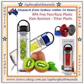 700ml Fruit Vegetable Infuser Water Bottle Tritan Sport Fitness BPA Free Bottle