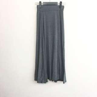 灰色棉長裙