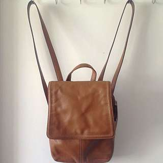 Tignanello Leather String Bag