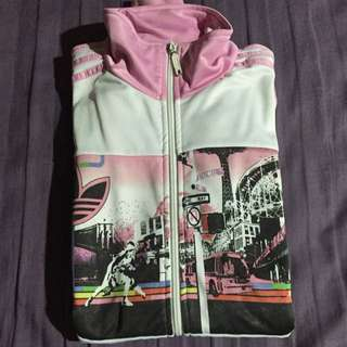 Jaket White And Pink
