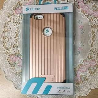 行李箱 iPhone6/6s Plus 手機殼-玫瑰金