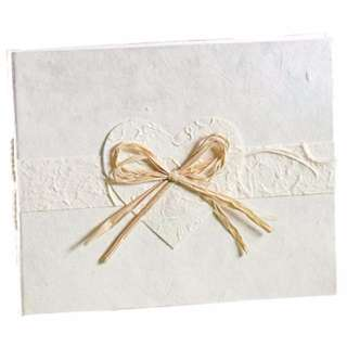 Brand New Rustic Wedding Guest Book
