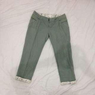 RESERVED-Green Capri Pants