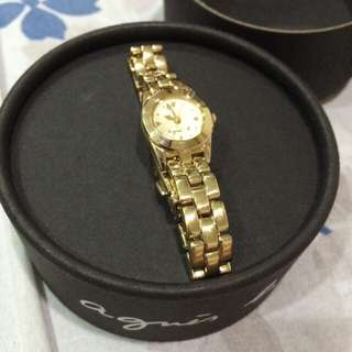 大降價~agnes b 石英錶-日本製