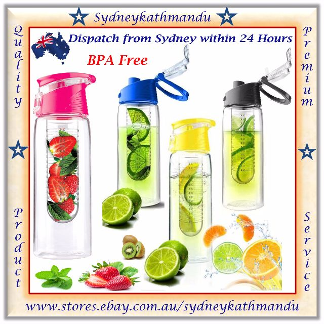 700ml Fruit Infuser Water Bottle Vegetable Infusion Tritan Sport Fitness Flip Lid