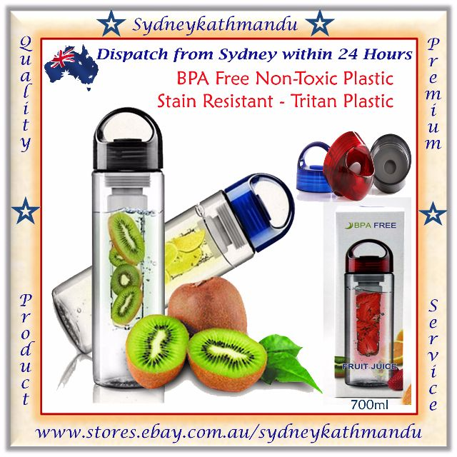700ml Fruit Vegetable Infuser Water Bottle Tritan Sport Fitness BPA Free Bottle