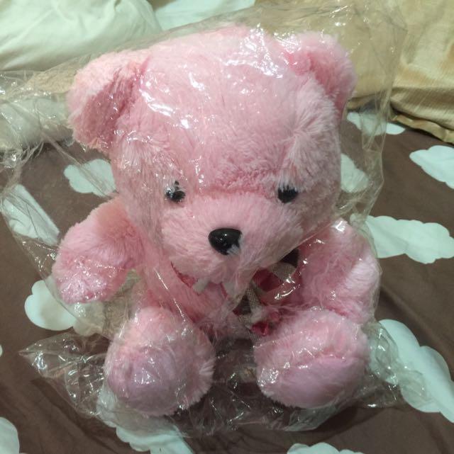 可愛的粉紅色熊熊