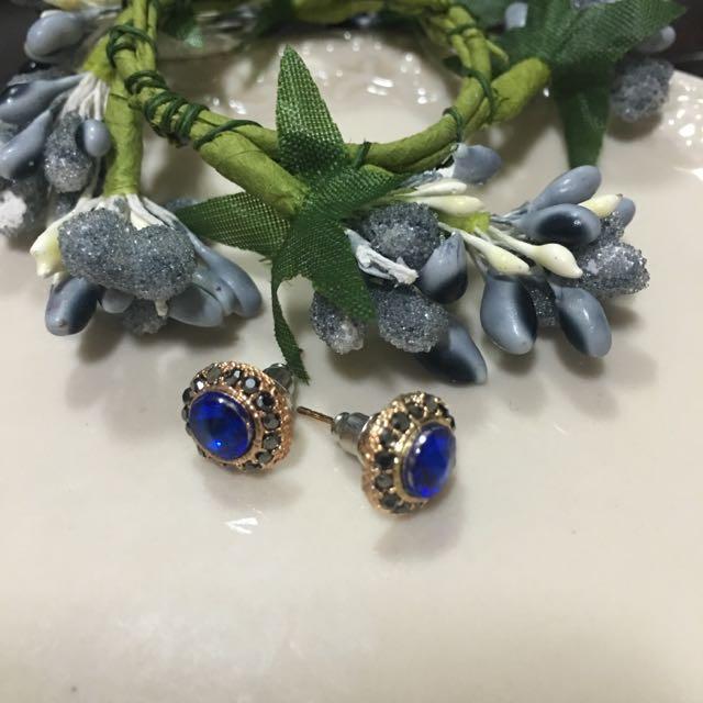 ✨全新✨小藍鑽耳環
