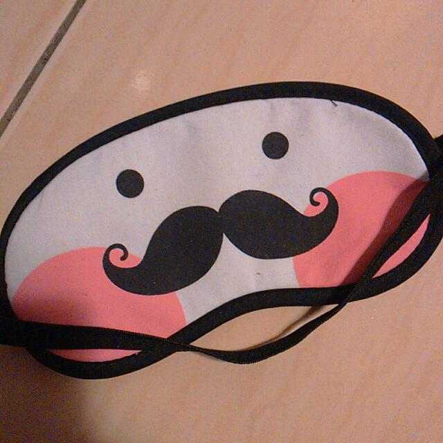 可愛鬍子眼罩