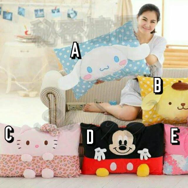 日單 立體枕頭套 尺寸:40*60cm 材質:毛絨