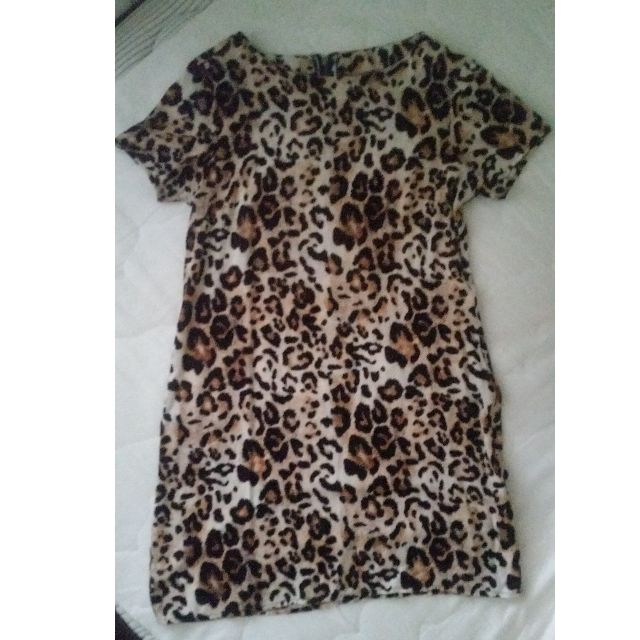 All About Eve size 6 tiger print shift dress