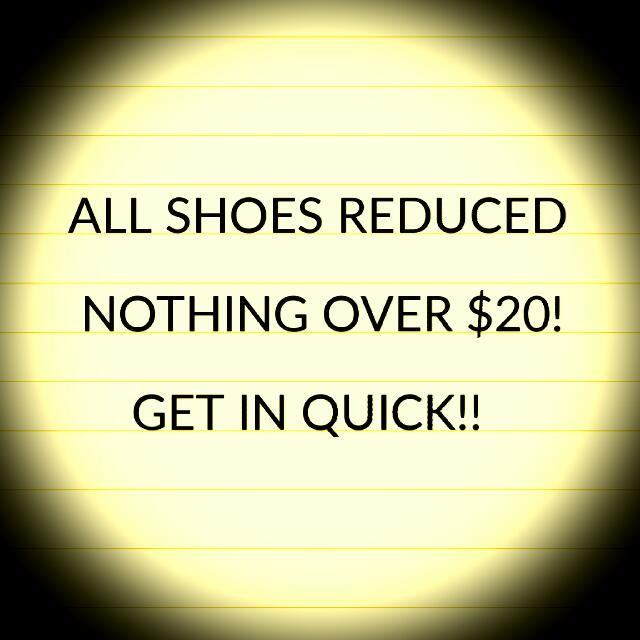 All Shoes Now Under $20