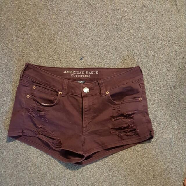 American Eagle Shorts Color:Burgundy  Size:10
